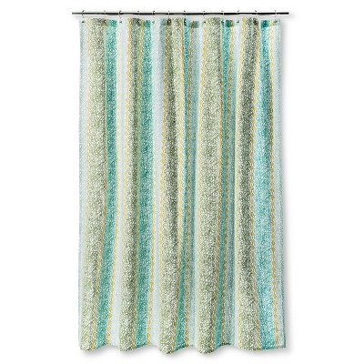 Threshold™ Shower Curtain - Vertical Print Green