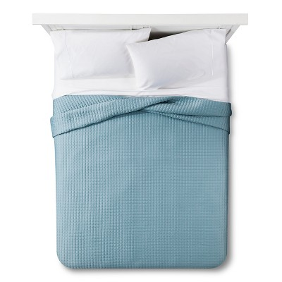Tonal Stitch Quilt King - Aqua - Fieldcrest Luxury™
