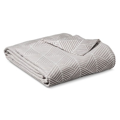 Fashion Woven Pattern Cotton Blanket Seagull & Sour Cream (Full/Queen) - Threshold™