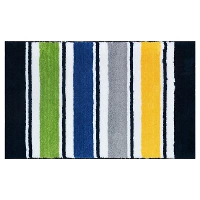 Warm Stripe Bath Rug Multicolored - Pillowfort™