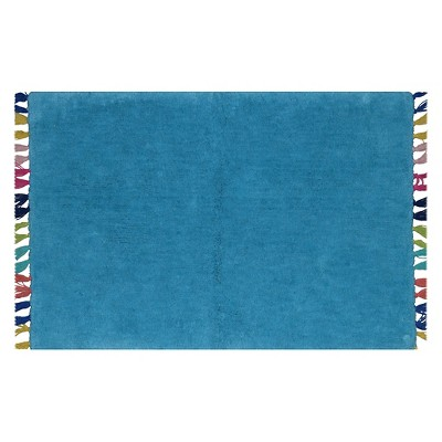 Tassel Bath Rug Kente Blue - Pillowfort™