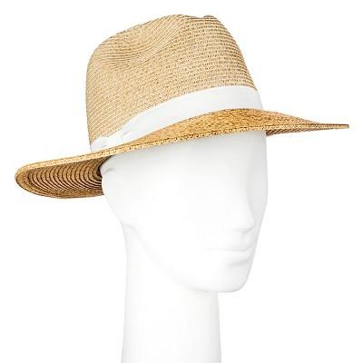 Women's Straw Hat Panama Two Tone Tan - Merona™