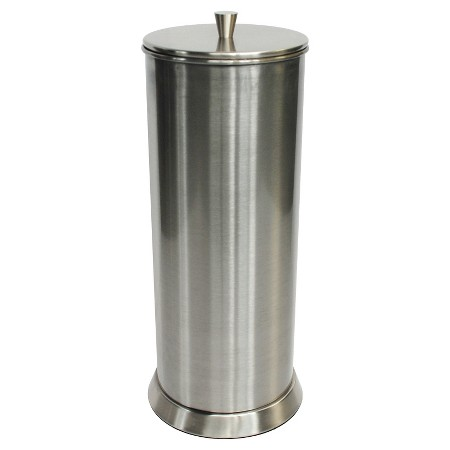 Canister freestanding toilet tissue holder reserve brushed nickel 88 main target - Brushed nickel standing toilet paper holder ...