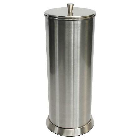 Canister freestanding toilet tissue holder reserve brushed nickel 88 main target - Free standing toilet paper holders brushed nickel ...