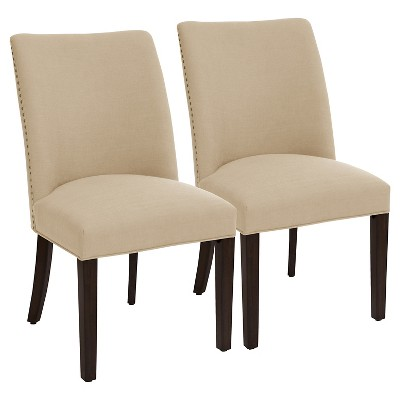Parker Barrel Dining Chair with Nailheads Beige (Set of 2) - Threshold™