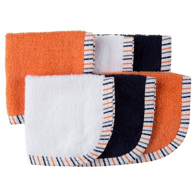 Gerber® Baby 6 Pack Washcloth Set - Blue/Orange