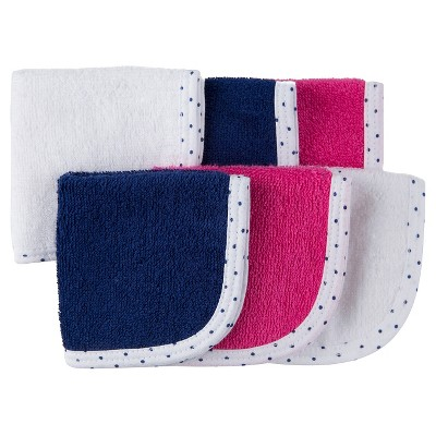 Gerber® Baby 6 Pack Washcloth Set - Pink/Blue