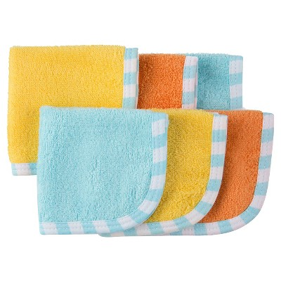 Gerber® Baby 6 Pack Washcloth Set - Yellow/Orange/Blue