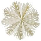 "Paper Snowflake Ornament 9.75"""