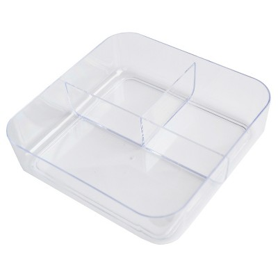 3 Compartment In Drawer Storage Tray Clear Merrick