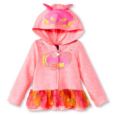 Baby Girls' Batgirl Hooded Costume Sweatshirt - Pink 12M