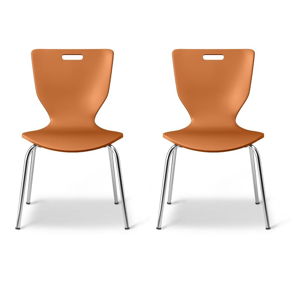 Scoop Kids Activity Chair - Wild Orange (Set of 2) - Pillowfort