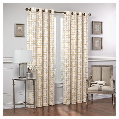 Curtain Panels Vue Signature WHEAT Trellis
