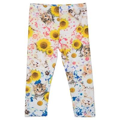 Baby Girls' Kitten Secret Garden Legging Pant White 12M