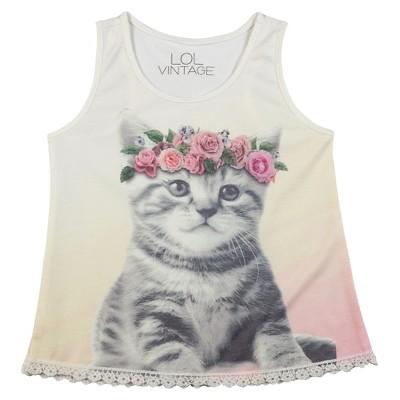 Baby Girls' Kitten Tank Top Multicolored 12M