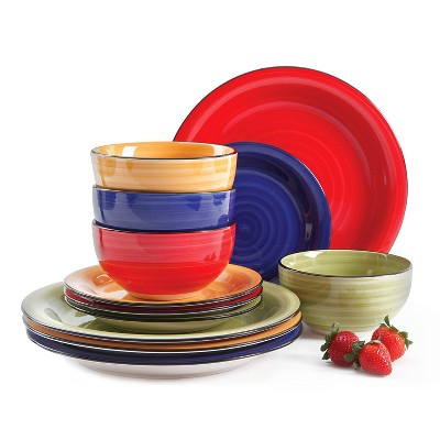 Gibson Select Color Vibes Dinnerware 12pc Set - Assorted Colors