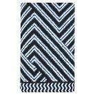 Sculpted Accent Bath Towel True White/Galaxy Black - Nate Berkus™