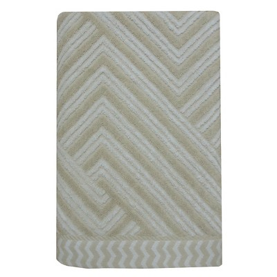 Sculpted Accent Bath Towel True White/Creamy Chai - Nate Berkus™