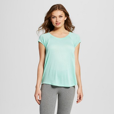 Women's Short Sleeve Sleep Tee Strobe Green L - Xhilaration™