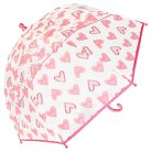 Toddler Girls' Clear Umbrella With Heart Printing - Exciting Orange / One Size
