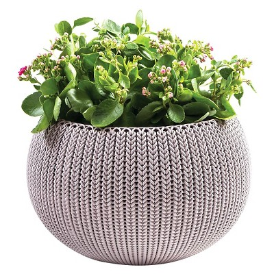 Curver Medium Knit Cozie Planter - Purple
