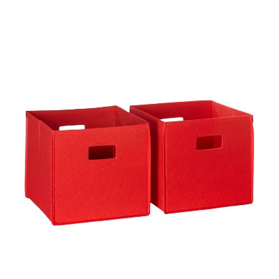 RiverRidge® Folding Storage 2 Pc Bin Set - Red