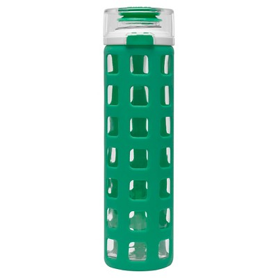 Ello Syndicate Glass Water Bottle - Cloudy Turquoise