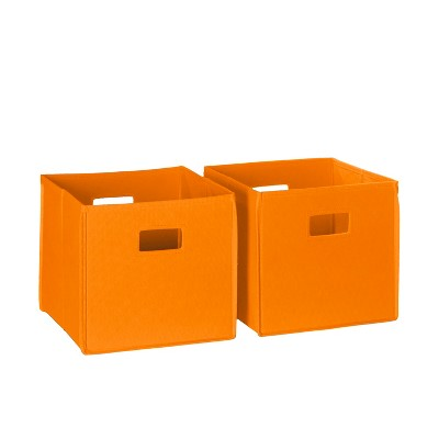 RiverRidge® Folding Storage 2 Pc Bin Set - Orange