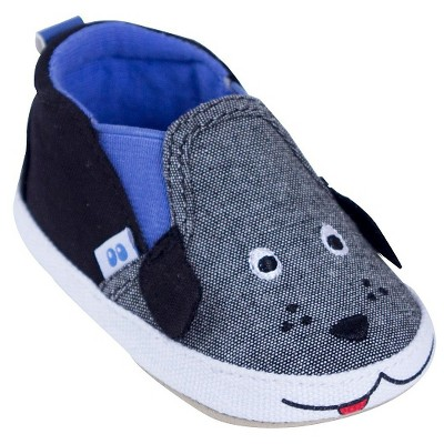 Baby Boys' Dog Loafer Slipper Grey/Black S (0-6M) - Stride Rite™
