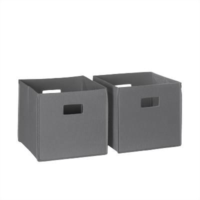 RiverRidge® Folding Storage 2 Pc Bin Set - Gray