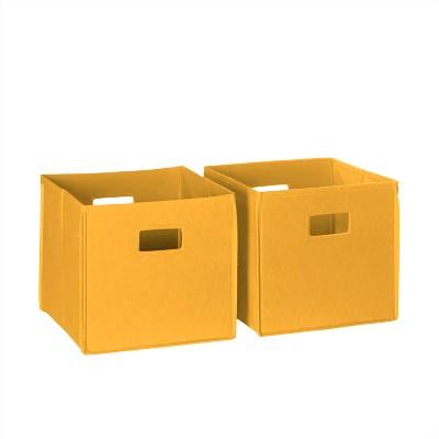 RiverRidge® Folding Storage 2 Pc Bin Set - Golden Yellow