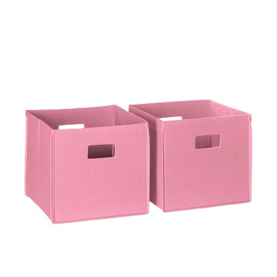 RiverRidge® 2 Piece Folding Storage Bin Set - Pink