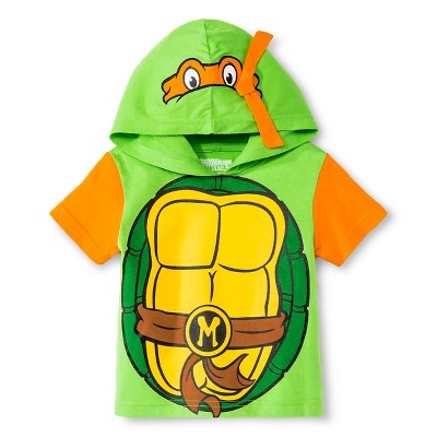 Toddler Boys' Teenage Mutant Ninja Turtle Hooded Tee - Green 12M