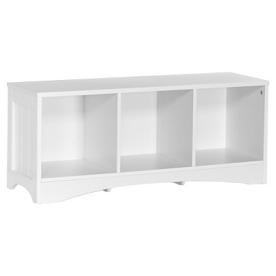 RiverRidge® Kids Bench with 3 Storage Cubbies - White