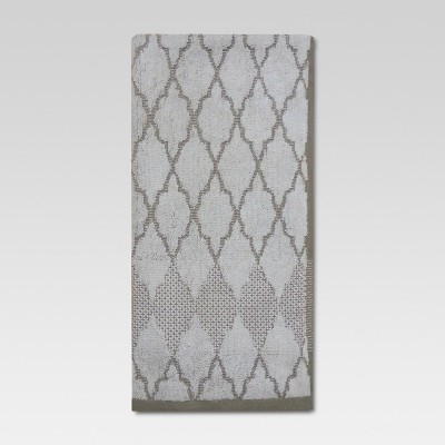 Threshold™ Hand Towel - Ogee Grey/White
