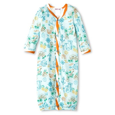 Baby Nay Fish at Sea Nightgown - Turquoise 0-3 M