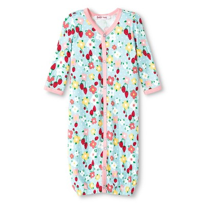 Baby Nay Strawberry Fields Nightgown - Green 0-3 M
