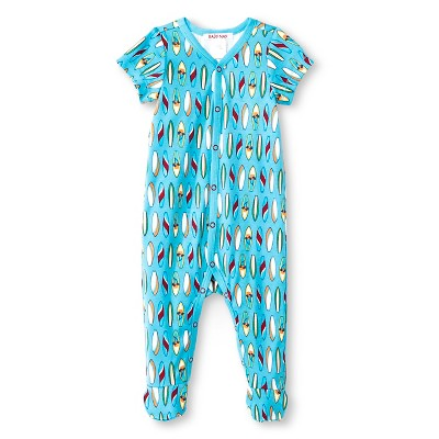 Male Footed Sleepers Baby Nay 6 M Blue Surf