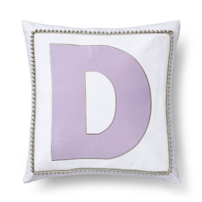 Letter D Monogram Pillow Cover - Pillowfort™