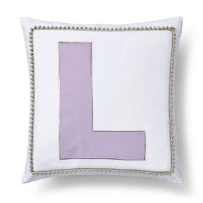 Letter L Monogram Pillow Cover - Pillowfort™