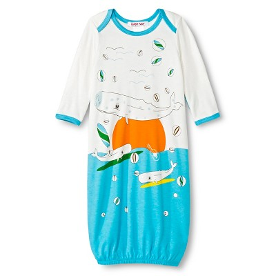 Baby Nay Surfing Whales Baby Sack - Cream 0-3M