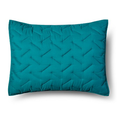 High Rise Stitch Pillow Sham Standard Blue - Room Essentials™