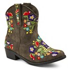 Girls' Betseyville Reece Floral Embroidered Cowboy Boots - Stone