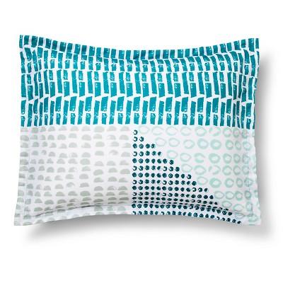 Sham Colorblock Standard Teal Blue - Room Essentials™