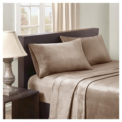 Velvet Luxe Plush Sheet Set - Mink (Queen)