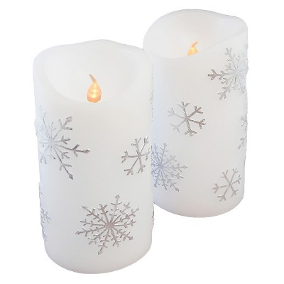 Lumabase Battery Operated Candle Set OFFWHT