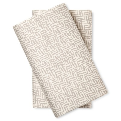 Pillow Case Set Crosshatch (Standard) Grey - Nate Berkus™