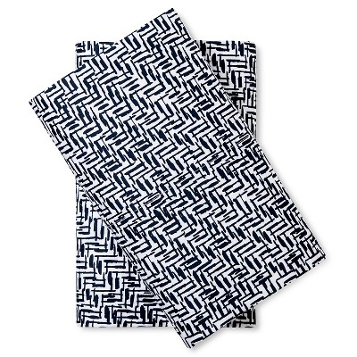 Pillow Case Set Crosshatch (King) Blue - Nate Berkus™