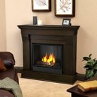 Real Flame Chateau Gel Fireplace - Dark Walnut