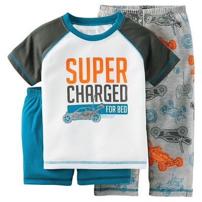 Just One You™ Made by Carter's® Baby Boys' 2-Piece Car Pajama Set Gray 18M